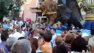 Gragnano-La Madonna del Carmine quando scende dalla chiesa