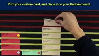 Kanban Cards To Stage And Schedule Jobs - Kanban card template