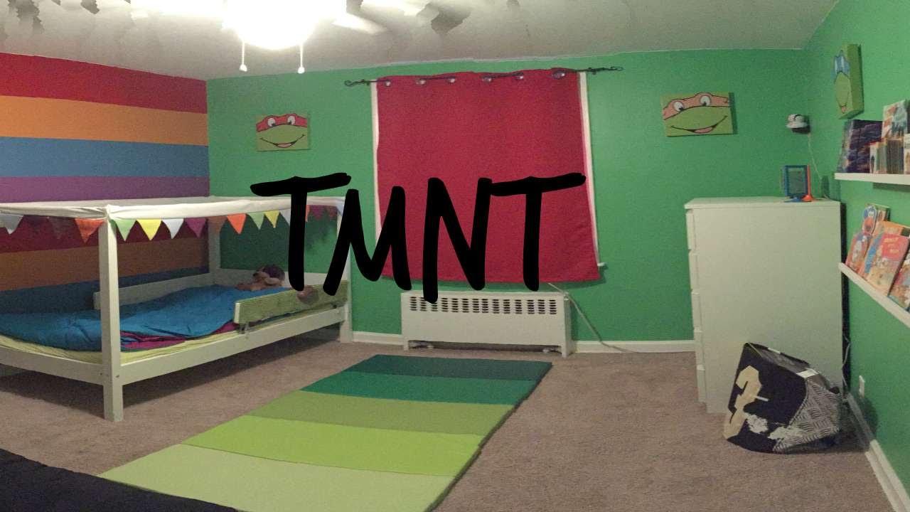 Teenage Mutant Ninja Turtle Themed Bedroom for Toddler  YouTube