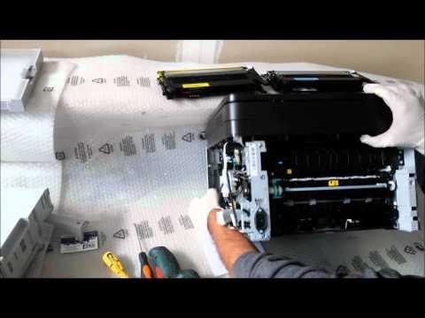 Samsung CLX 3305 Smontaggio gruppo presa carta - Disassembly FRAME BASE-PAPER