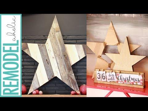 Easy DIY Wood Stars in 5 Variations