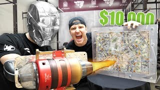 $10,000 IF ANY YOUTUBER CAN BREAK THE BOX!! (UNBREAKABLE GLASS CHALLENGE)
