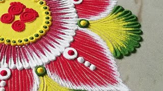 इतनी beautiful rangoli design जो आप भी बना लेंगे   Easy And Creative Rangoli Design by Sangeeta-