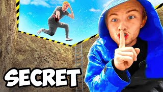 Using Secret Trampoline Bunker To Cheat In Hide N Seek