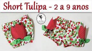 Short Tulipa 2 a 9 anos