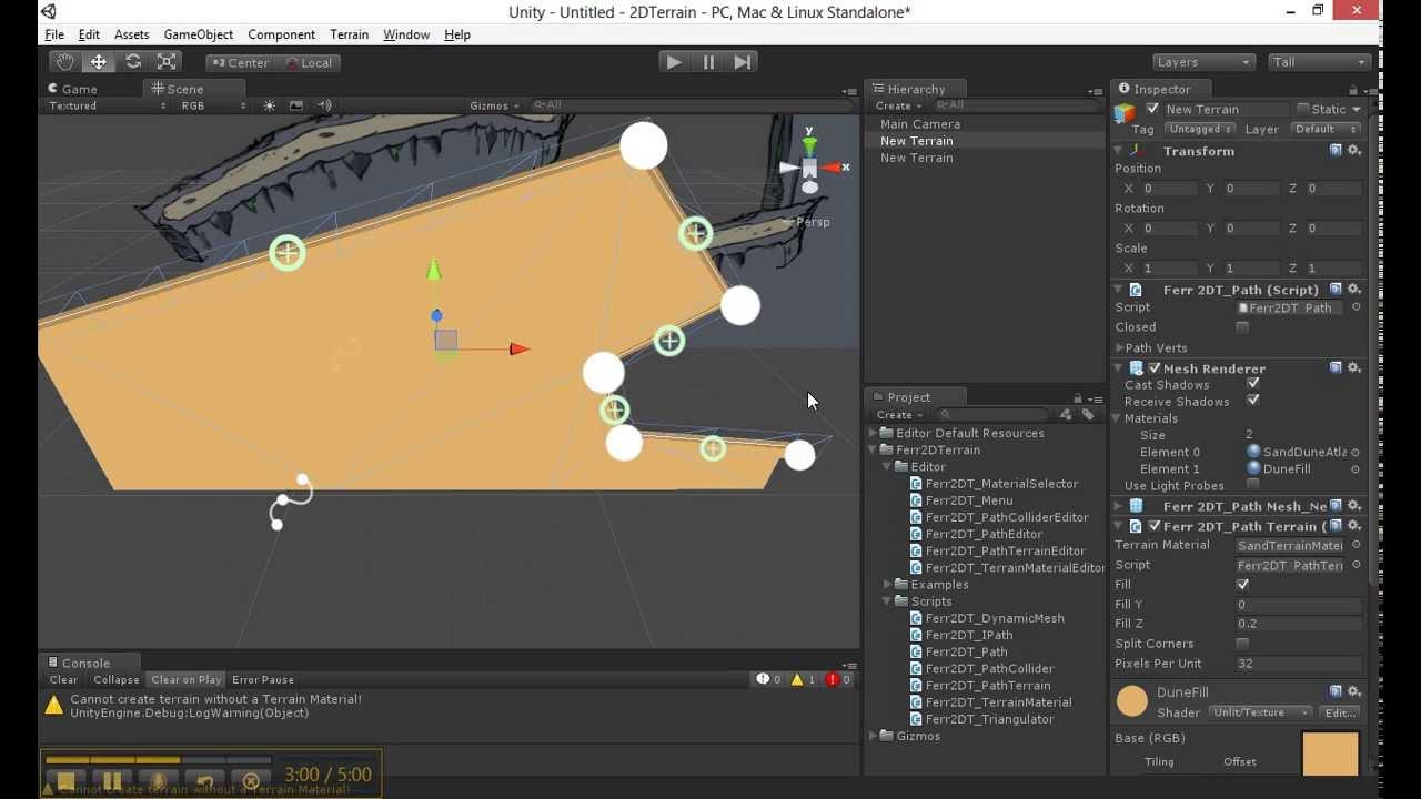 Unity3D 2D Terrain Plugin