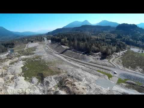 Oso Landslide, Drone Quadcopter view