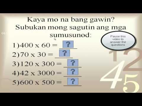 Multiplying Numbers with Zeros (Tagalog) - Multiplication Simple Math Tips (iwbresources)