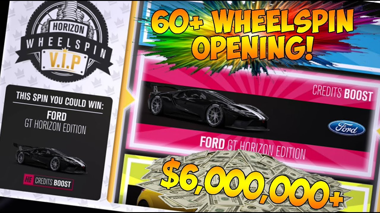 Forza Horizon 3 Insane 60 Wheelspin Opening 6 Million