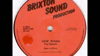 gene rondo the rebels back to africa