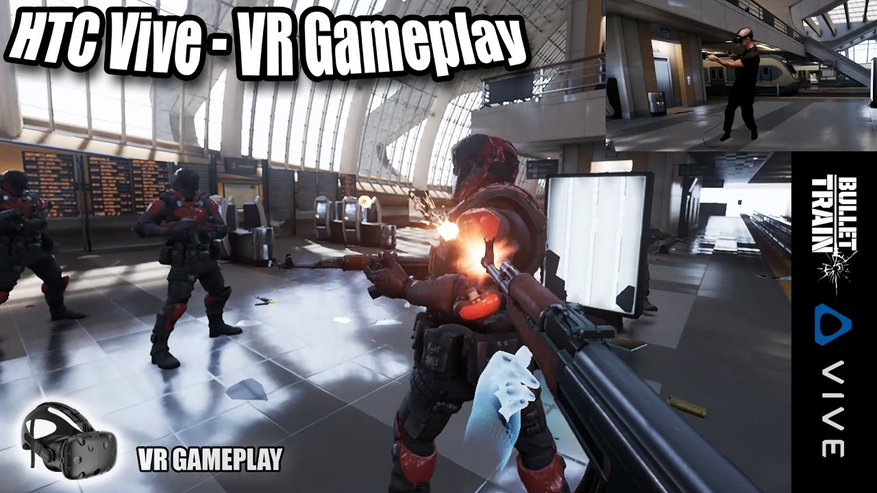 Bullet Train VR Gameplay on HTC Vive with Revive - FPS tech-demo for Oculus  Touch Controllers