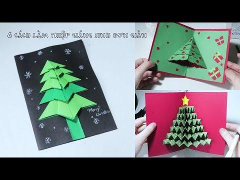 6 cách làm thiệp giáng sinh đơn giản -  DIY Christmas Card Ideas