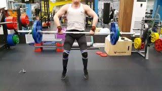 Толчок штанги 85 кг на раз 03 05 2016