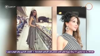 8 الصبح - تفاصيل تعرض النجمة نانسي عجرم لموقف محرج جدا فى كأس دبي لسباق الخيل !!