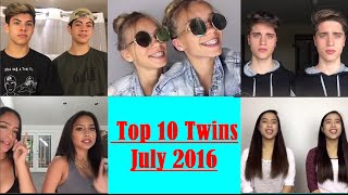 top 10 twins on musically june 2016
