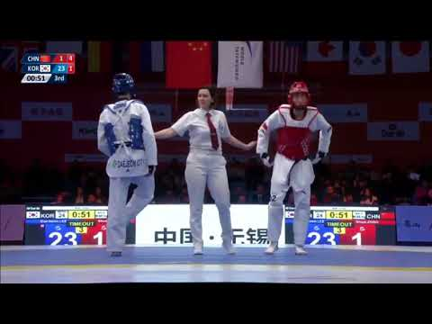 Wuxi 2018 World Taekwondo Grand Slam -68kg [FINAL] Daehoon LEE[KOR] vs Shuai ZHAO[CHN]