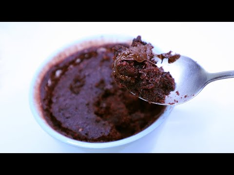 Chocolate Lava Mug Cake in 1 Minute! Eggless Microwave ...