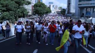 Chavista en marcha de Oposición