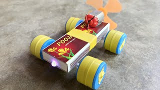 How To Make Matchbox mini Car at home -  Electric Toy Car Diy