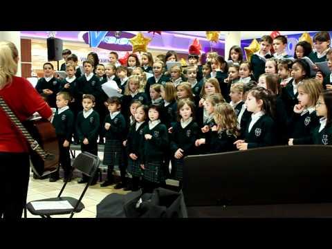 Queen of All Saints Elementary School Junior Choirs at Lougheed Mall Coquitlam (2)