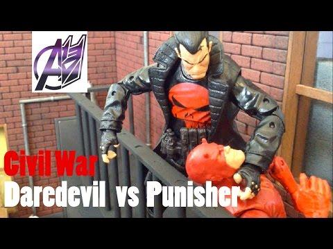 Daredevil Stop Motion-Daredevil vs the Punisher