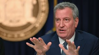 NYC Mayor Bill de Blasio Holds Coronavirus Briefing