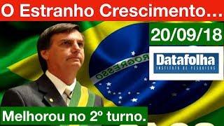 Nova pesquisa Datafolha para Presidente! Bolsonaro cresce estranho... Haddad em 2º. 20/09/18
