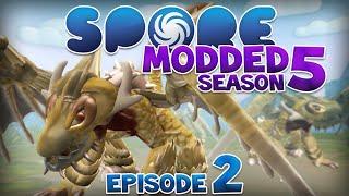SPORE: Modded - DRAGON! | Ep2 Season5 - Spore Creature Stage