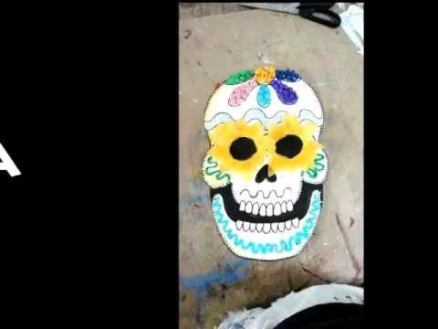 Máscara De Calavera Decorada Youtube