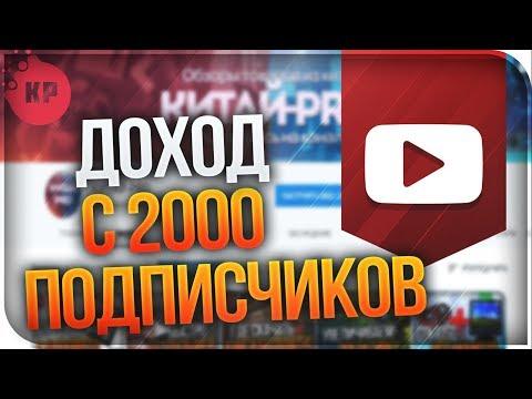 Сколько можно заработать на YouTube C 2000 подписчиков сейчас