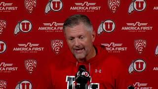 10/14/19 University of Utah Football Press Conference