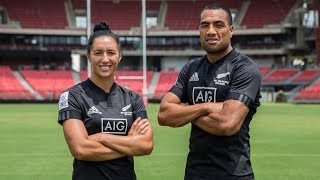 Sydney captain's photo with Sarah Hirini and Sione Molia