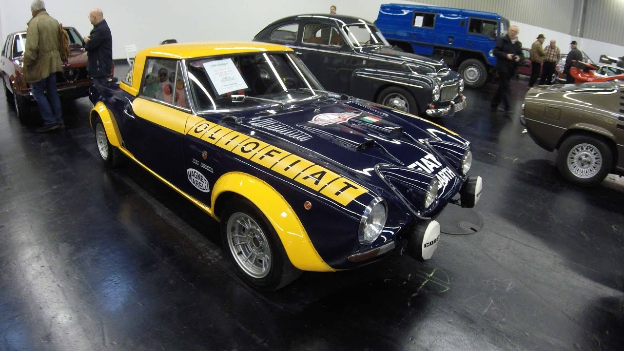 Fiat Abarth 124 Spider Rallye Group 4 Racing Car Olio Fiat Look