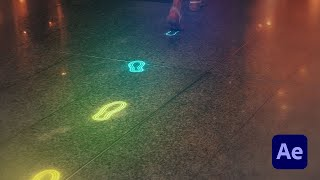 Glowing Neon Footsteps in After Effects - Tutorial