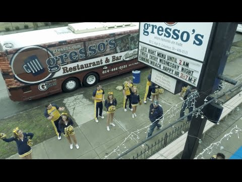 WVU Mountaineer Event at Gresso's Bar and Restaurant – 2015 NCAA Columbus Ohio Drone Aerial