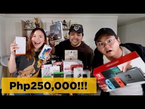 php250,000-gadget-mystery-box-ft.-mary-bautista,-senpai-kazu,-carlo-ople-(tagalog-vlog)