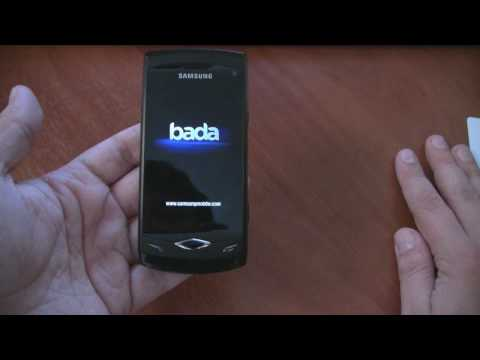 Russian Samsung GT-S8500 Wave Bada Unboxing