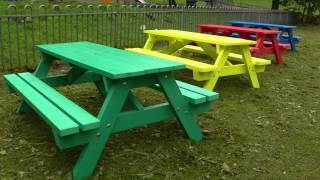 Recycled Plastic Picnic Table By Kedel - Derwent Junior Range