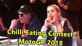 Chilli Eating Contest MotoGP Silverstone Woodlands August 2018
