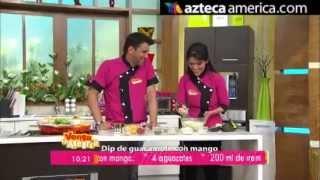 Dip De Guacamole Con Mango / Receta