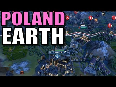 Civ 6: Poland Gameplay [True Start Earth Location Map] Let's Play Civilization 6 Poland | Part 10
