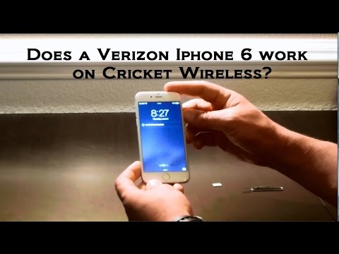 Verizon Iphone 6s, 6, 6 plus, 7 on Cricket Wireless Cellular.  Does it work???