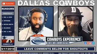 The Dallas Cowboys vs Redskins Recap + Heading Into Week 3 Conversation 🚨 🚨