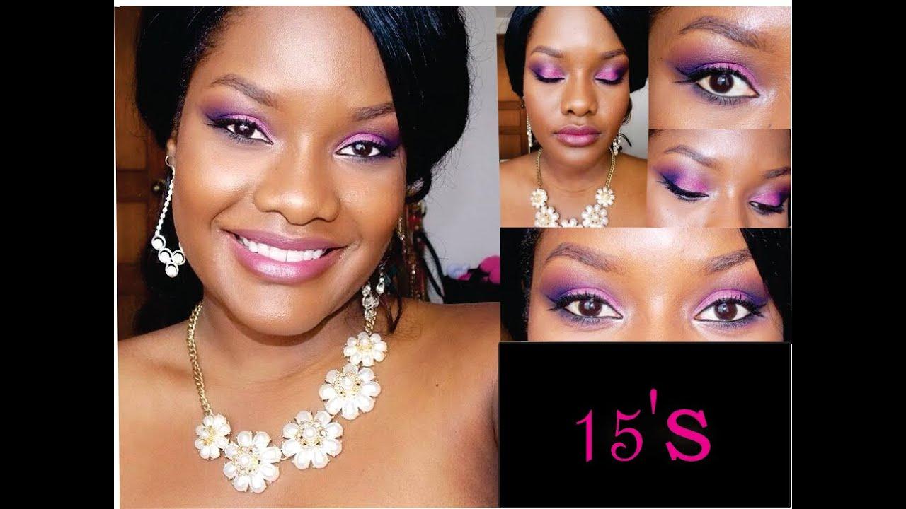 Maquillaje Para Quinceañera de piel negra /Pigmento INGLOT 36 TUTORIAL DC
