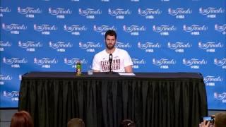 Kevin Love Postgame Interview | Game 4 | Warriors vs Cavaliers | June 9, 2017 | 2017 NBA Finals
