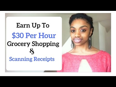 Get Paid To Grocery Shop And Scan Receipts // Up To $30 Per Hour