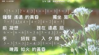 微光中的歌吟 演唱 鄭怡 詞曲 蘇來 伴奏版 簡譜 樂器 中文字幕