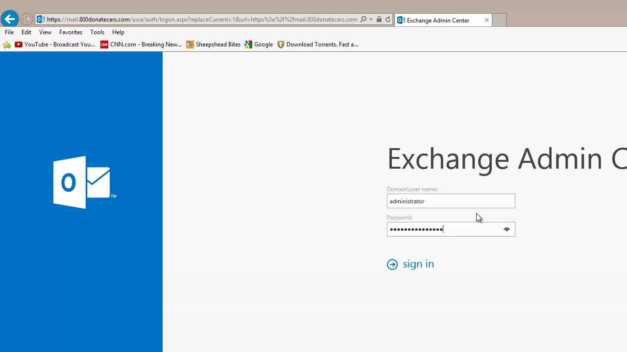 Tutorial - Exchange 2013 ECP Administration Control Panel