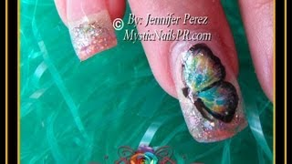 Mariposa Colorida Diseños Mano Alzada Primavera :::... Jennifer Perez of Mystic Nails ☆ thumbnail