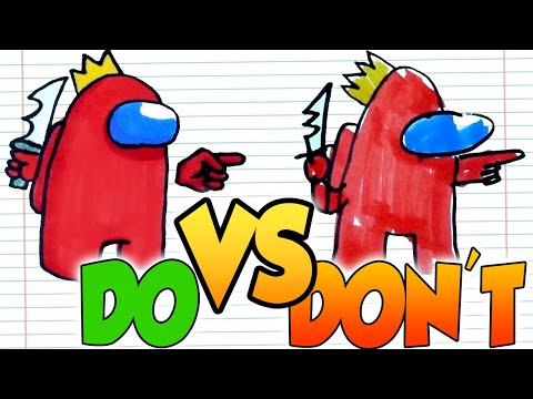 DOs & DON'Ts Drawing AMONG US In 1 Minute CHALLENGE!